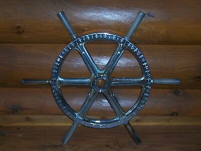 "Authentic Vintage Great Lakes Ships Wheel Maritime Nautical Antique 32"" Diameter"