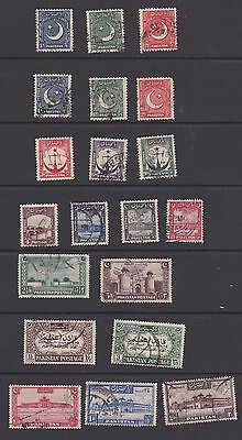 Stamps Pakistan used early selection