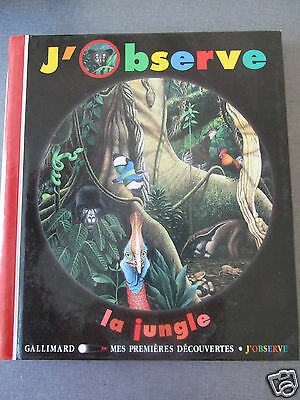 J Observe La Jungle Gallimard Exc Etat 5 / 8 Ans