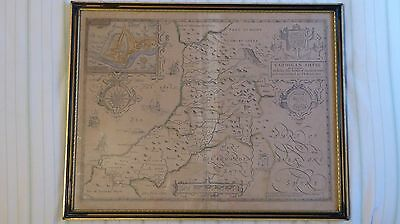 Antique 1676 6th edition map of Cardiganshyre by John Speed