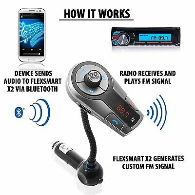 Car MP3 FM Transmitter Bluetooth Wireless LCD AUX USB Disk Charger Handsfree Kit