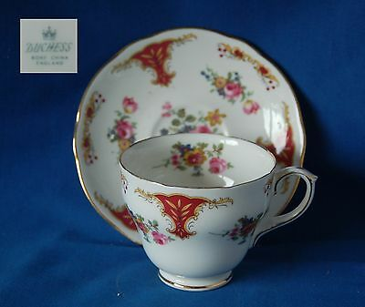 Vintage Duchess floral bone china duo cup and  saucer