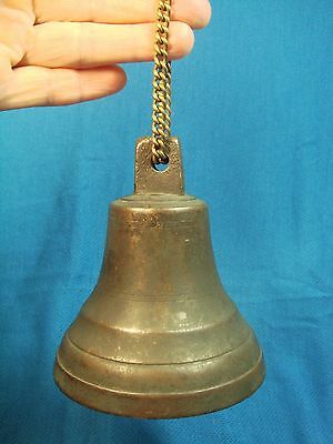 Old Russia Russian Bell Brass with Patina Iron Clapper