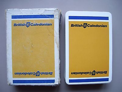 British Caledonian Airways (Yellow) Deck Of Playing Cards.(Unused=Mint)