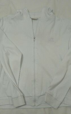 White cotton jersey hoodie from P & O Oriana, which is bnwot