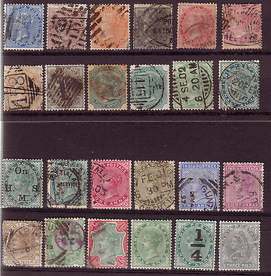 India Victorian Selection Of Stamps.........