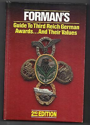 FORMANS GUIDE TO THIRD REICH GERMAN AWARDS 2nd Edition,Excellent Condition.
