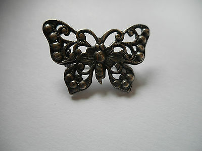 Antique sterling silver butterfly brooch, 2.66 g