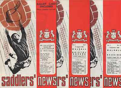 3x 1967-1968-WALSALL-DIVISION THREE-FA CUP PROGRAMME-COLLECTION-BULK-BUNDLE-LOT