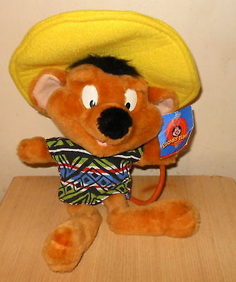 "Warner Bros. Looney Tunes Speedy Gonzales Plush Toy  (13"") New with Tags (1998)"