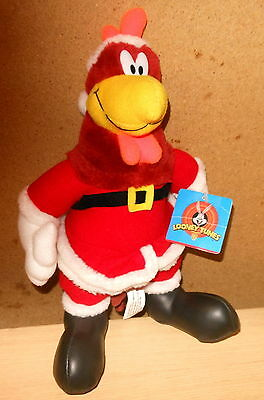 "Warner Bros. Looney Tunes Foghorn Leghorn Santa Plush Toy (12"") New Tags (1997)"