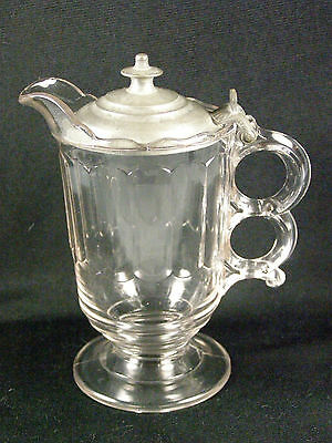 EAPG Early American Pattern Glass Syrup - Pewter Lid
