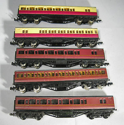 5x Graham Farish N Gauge BR livery Mainline coaches