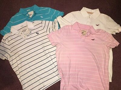 Lot Of 4 Abercrombie And Hollister Men's Polo Shirts XL