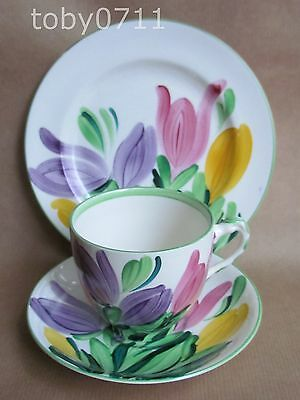 GRAY'S POTTERY HAND PAINTED CROCUS 8982 PATTERN TRIO DATE:1930 GRAYS   (Ref261)