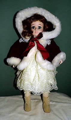 "NIB! Porcelain Seymour Mann Connoisseur doll collection ""Chrissy"" - hand painted"