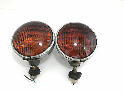Vintage Dietz 9-51 4001-R sealed beam red warning lights See pictures Lot 2139