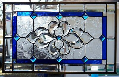 Stained Glass window hanging 27 1/2 X 17