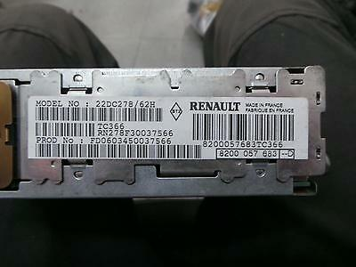 Renault Clio Radio/cd/dvd/sat/tv 05/01-12/08 01 02 03 04 05 06 07 08