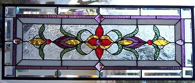 Stained Glass window hanging 33 1/2 X 13