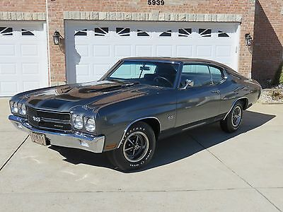 1970 Chevrolet Chevelle SS No Reserve Restored #'s Matching Shadow Gray 70 LS6 SS454 4 Speed Chevelle!