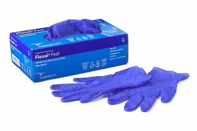 Cardinal Health Flexal Feel Nitrile Exam Gloves, Large -300/Pack *SPECIAL PACK*