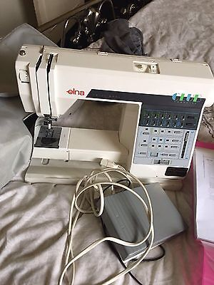 Elna Club computerised embroidered electric sewing machine+manual