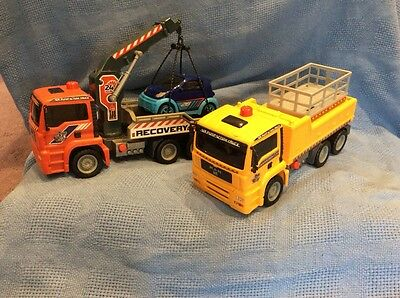 Toy tow truck and Scissor lift toy truck