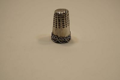 Vintage Taxco Mexico  Sterling Silver Thimble  A662