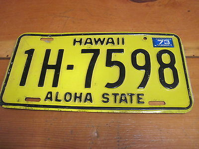 Vintage 1969 Hawaii License Plate Very Nice Condition!