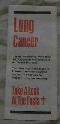 1980 Lung Cancer Canadian Lung Association Smoking Cigarettes