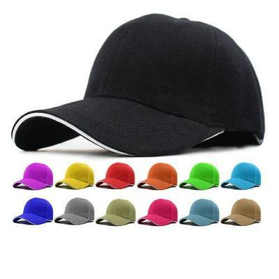 Hot Baseball Hat Plain Cap Blank Curved Visor Hats Men Women Hip-Hop Hat - LD