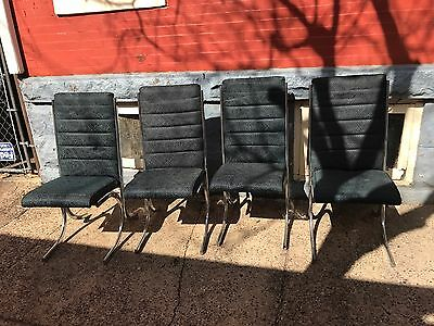 Four MCM Mid Century Modern Chrome Dining Room Chairs Atlas Dinette Man. Corp.