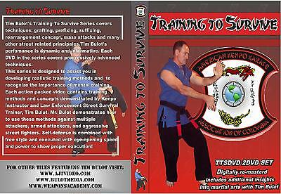 "American Kenpo Karate Training to Survive 2 DVD Set Tim Bulot ""FREE SHIPPING"""