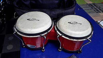 cool solid bongos with carry case NO RESERVE