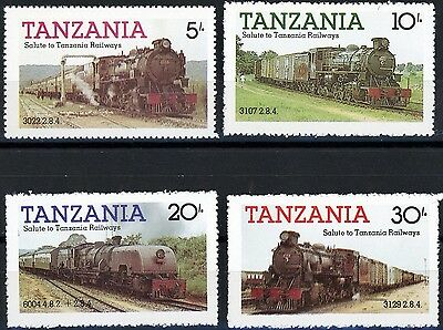 Tanzania Trains Issues of 1985 Complete Set 4 MNH Scott's 271 to 274