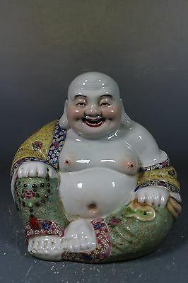 Beautiful chinese famille rose porcelain Laughing Buddha