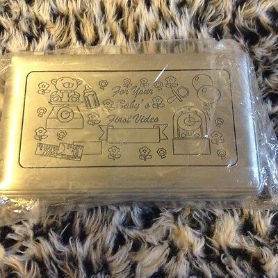 """Baby's First ENGRAVEABLE  Keepsake video Box Silver 8.25"""" X 5""""H"""