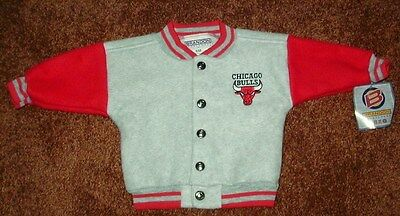 Chicago Bulls Fleece Jacket, Size 6M, Brand New With Tags!  Free Shipping!