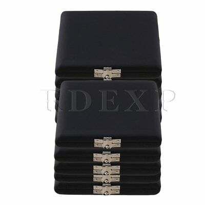 9.2x7.8x2cm PU Leather Oboe Reed Case Holder for 6 Reeds Black Pack of 10