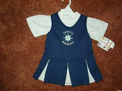 Seattle Mariners Cheerleading Outfit, Size 3T, New With Tags!  Free Shipping!