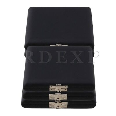 9.2x7.8x2cm PU Leather Oboe Reed Case Holder for 6 Reeds Black Pack of 5