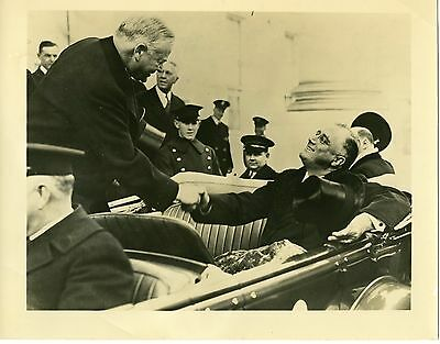 Herbert Hoover and Franklin Roosevelt at 1932 Inauguration Vintage Press Photo
