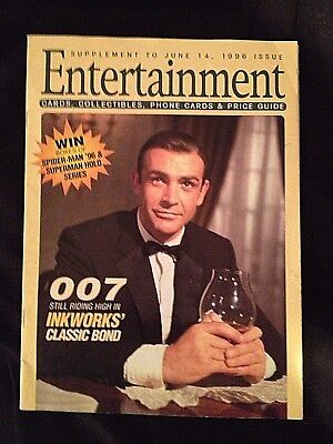 Entertainment Magazine June 1996 Sean Connery cover James Bond collectibles