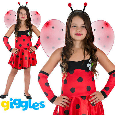 Girls Ladybug Ladybird Kids Child World Book Day Week Fancy Dress Costume Outfit
