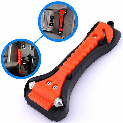 1x Car Window Glass Breaker Belt Cutter Emergency Safety Life-Saving Hammer Tool