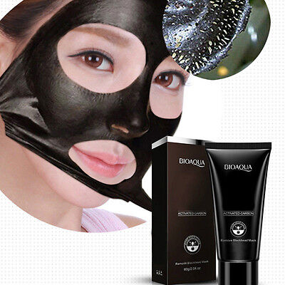 Unisex Blackhead Remover Deep Cleansing Purifying Acne Peel Black Mud Face Mask