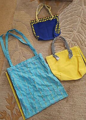 Tote bags lot of 3 mixed lot