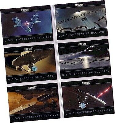 "Star Trek Movie XI 2009 - 6 Card ""USS Enterprise NCC-1701"" Chase Set E1-E6"