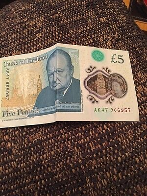 New £5 Note AK47 And 2 Olympic 1 Pound Coins